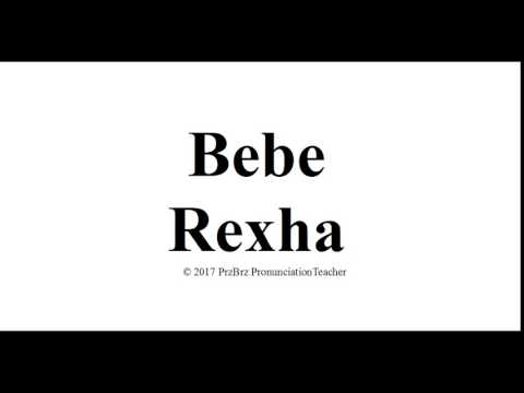 BEBE REXHA pronunciation 🔥 How to pronounce audio guide