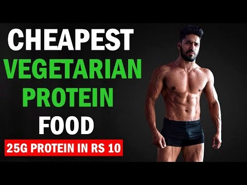 Top 3 Cheapest Veg Protein Food in India | Vegetarian bodybuilding