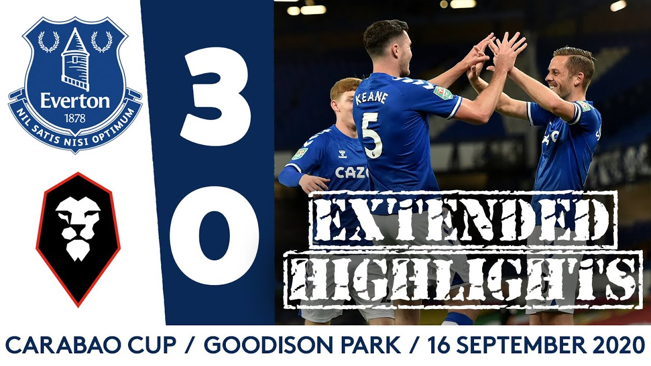 EXTENDED CARABAO CUP HIGHLIGHTS: EVERTON 3-0 SALFORD CITY