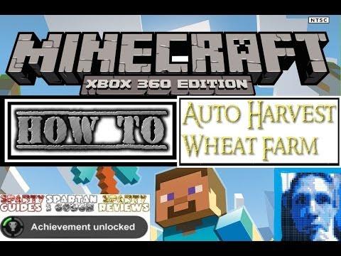 Minecraft Tutorial * Making redstone work * Auto Harvest Wheat Farm on Xbox 360 by Sparty