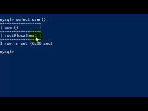 How to print the name of current user in MySQL server
