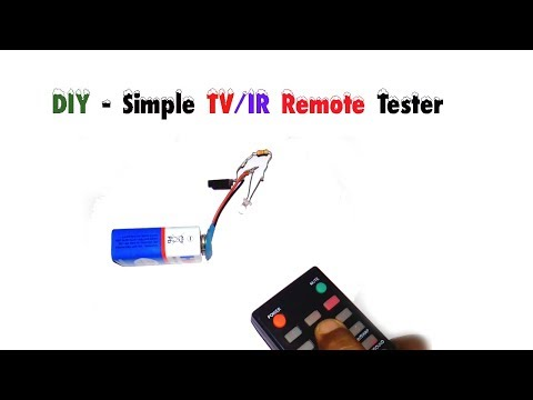 How to make a simple Infrared(IR)/TV remote tester.