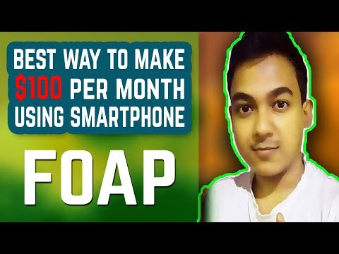 Best Way To Make $100 Per Month Using Your Smartphone |Sell Photos Online - Foap App|