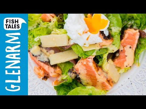 Grilled SALMON CAESAR SALAD | Bart van Olphen