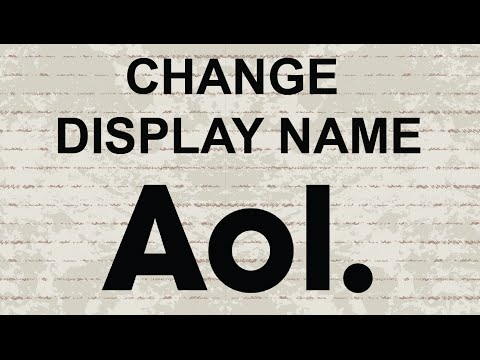 Change display name in AOL Mail