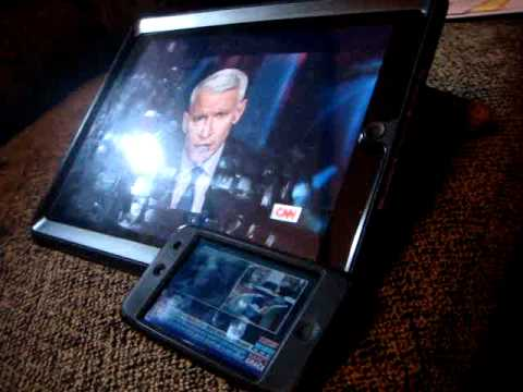 CNN and HLN at the same time! iPad 2 and iPod Touch 4th gen - LIVE streaming WiFi TV