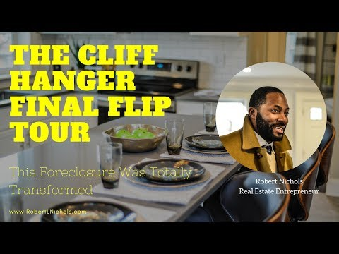 The Cliff Hanger - Final Tour of a Foreclosure Flip