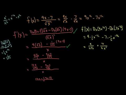 Section 3.3 - Exercise 6 - Using the Quotient Rule to Find a Derivative