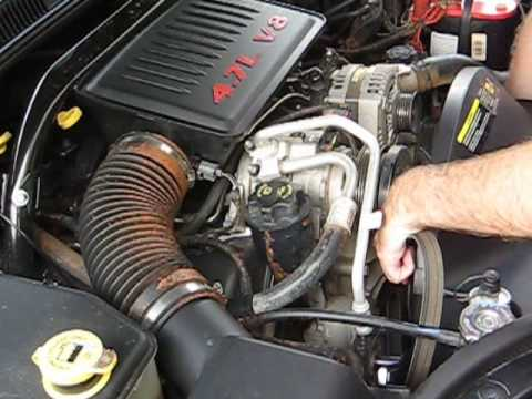 How to Change Your Serpentine Belt, Jeep 4.7L