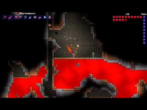 Terraria Special: How to get ALOT of obsidian fast!