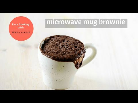 2 Minutes Microwave Mug Brownie | How to make brownie in mug