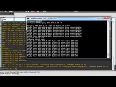 Connect your PC to GNS3 - connecting GNS3 to local machine