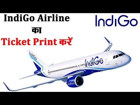 IndiGo Airline की टिकेट कैसे प्रिंट करें! How To Check IndiGo Airline PNR Status - Make My Trip