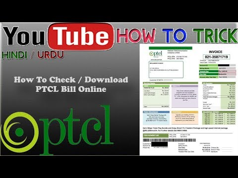 how to check PTCL Bill Online