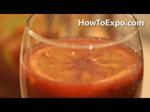 Recipe For Sangria How To Make Fruit Sangria Perfect Mixed Drink Fruit Punch (Video)