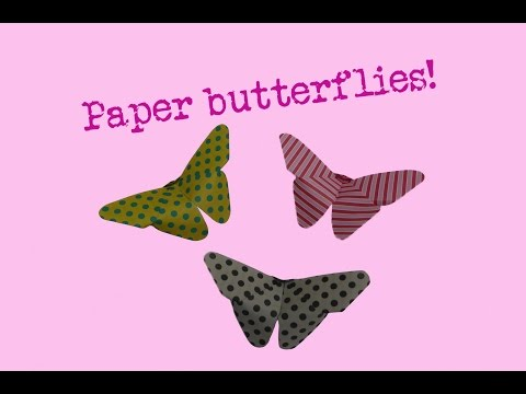 ♥ FOLD BUTTERFLY ♥ - very easy way - butterflies- how to make a paper butterfly-folding-DIY