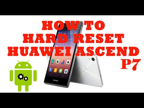 How To Hard Reset/ Factory Reset Huawei Ascend P7 Phone.