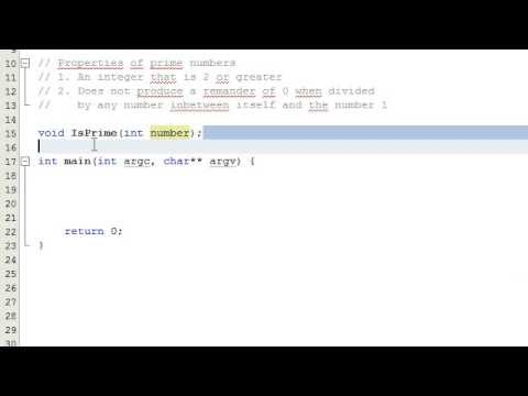 How to Determine if a Number is a Prime Number by Writing a Computer Program , C++ , Part 1