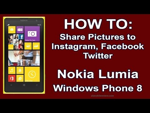 Lumia - How To Share pictures to Instagram, Facebook, Twitter
