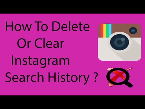 How To Clear or Delete Search History on Instagram On Android -2016 ?