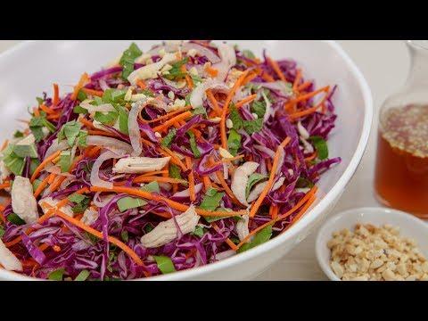 Purple Cabbage Chicken Salad (Goi Ga Bap Cai Tim)