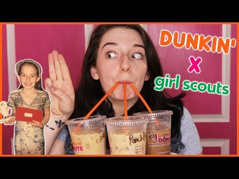 Dunkin' Donuts X Girl Scout Cookies Taste Test