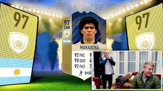 Icon Maradona In A Pack Prank