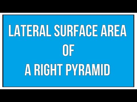 Lateral Surface Area Of A Right Pyramid / Maths Mensuration