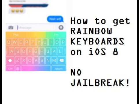 How to change your Keyboard on iOS 8 - NO JAILBREAK!!