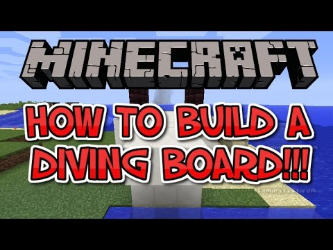 ✔ Minecraft | How to Build A Diving Board!!!