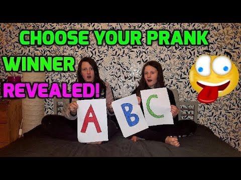 Choose Your Prank - Winner Reveal !