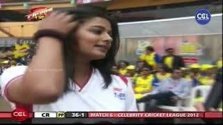 Priyamani Showing Her Interest & Love Towards Cricket