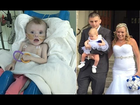 Britain's youngest DOUBLE lung transplant patient 5 month old is even well enough to be a bridesmaid