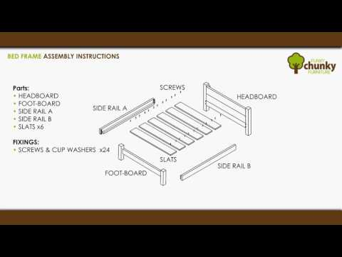 Funky Chunky Furniture - Bed Frame Assembly Instructions - Handmade Rustic Furniture