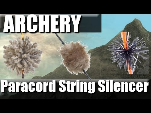 DIY Paracord Bow String Silencers | RevHiker