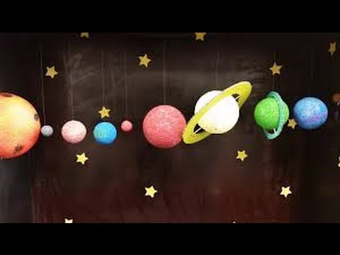 Easy Kids Projects - Hanging Solar System - Kids Learning