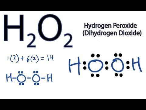 H2O2 Lewis Structure - How to Draw the Dot Structure for H2O2