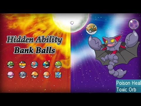 Hidden Ability Bank Ball Pokemon are now possible! Pokemon Sun and Moon