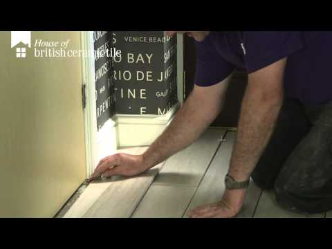 How To Cut Floor Tiles to a Door by House of British Ceramic Tile