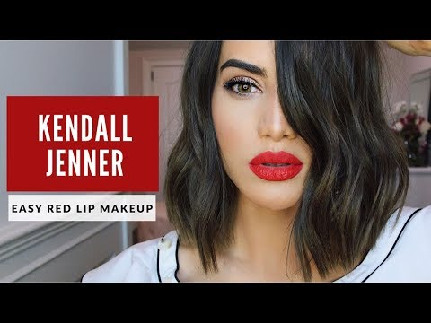 KENDALL JENNER CLASSIC RED LIP MAKEUP