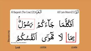 Surah Al Baqarah, The Cow, Surah 002, Verse 87, Learn Quran word by word Translation