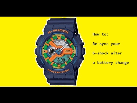Sync your G Shock Watch
