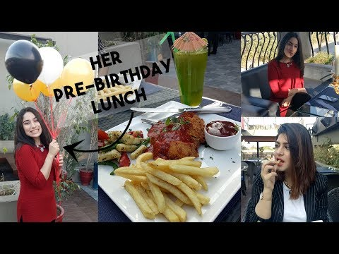 VLOG | Eating Places In Lahore | Pre- Birthday Lunch | GLOSSIPS