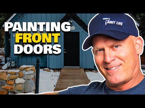 How To Paint Your Front Door In One Day.  How to paint a door.  DIY Door painting tips.