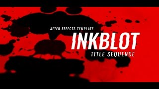 Inkblot Title Sequence - After Effects Template