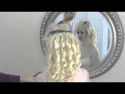 Bridal hair tips - how to apply hair extensions