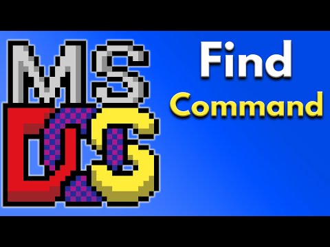 Batch File Programming - How to Use the Find Command