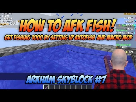 Minecraft: How to Set Up Autofish - Fishing 1000 - Arkham Skyblock