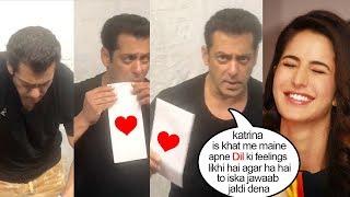 Salman Khan Writes L0VE Letter to Katrina Kaif Asking her 2 MARRY Him & Posts it d Old Fashion Way