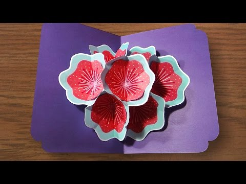 How To Make A 3d Flower Pop UP Card | Very Easy And Simple Steps |